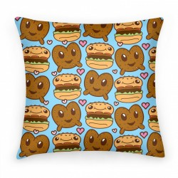 pretzel burger pillow