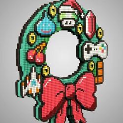8-bit_holiday_wreath