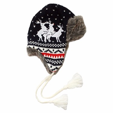 Reindeer Threesome Winter Hat